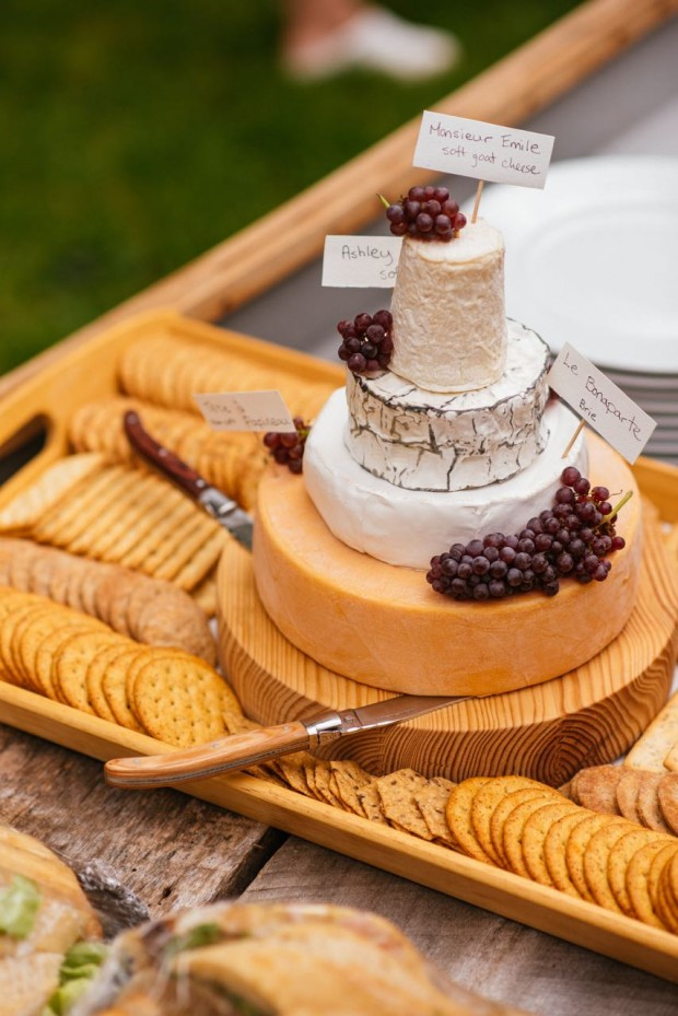 Excellent How To Build A Tiered Cheese Wheel Cake Simple Bites Funny Birthday Cards Online Alyptdamsfinfo