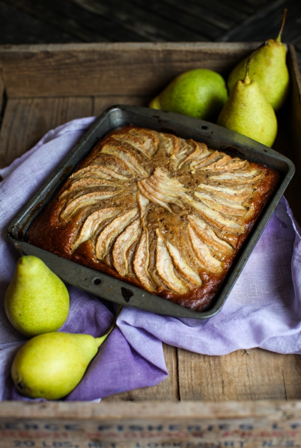 Pear Gingerbread || Simple Bites #cake #recipe