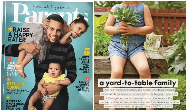 Behind the scenes for the Parents magazine article: Simple Bites: Recipes and Tips From a Yard-to-Table Family