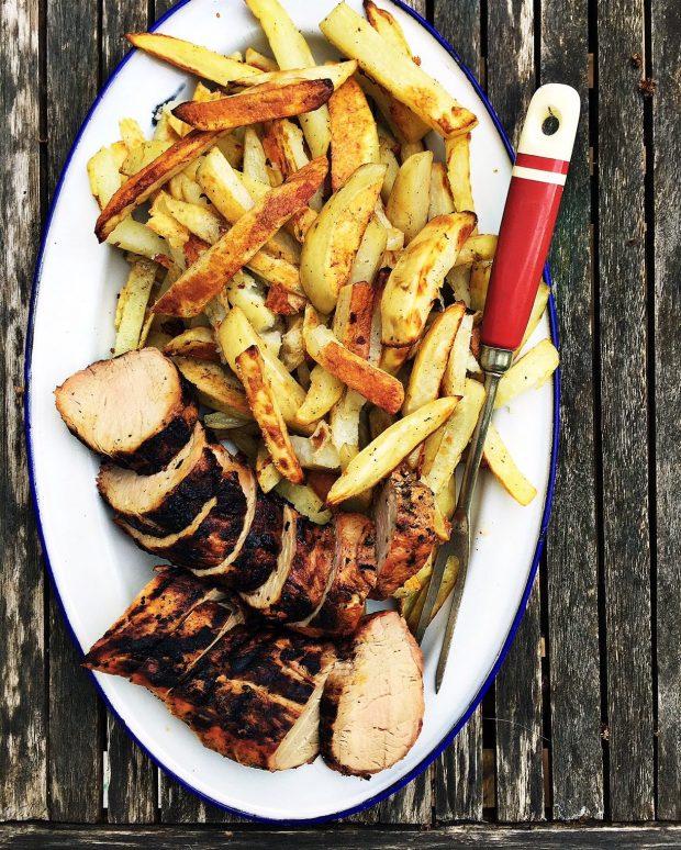 Harissa-grilled pork tenderloin | Simple Bites