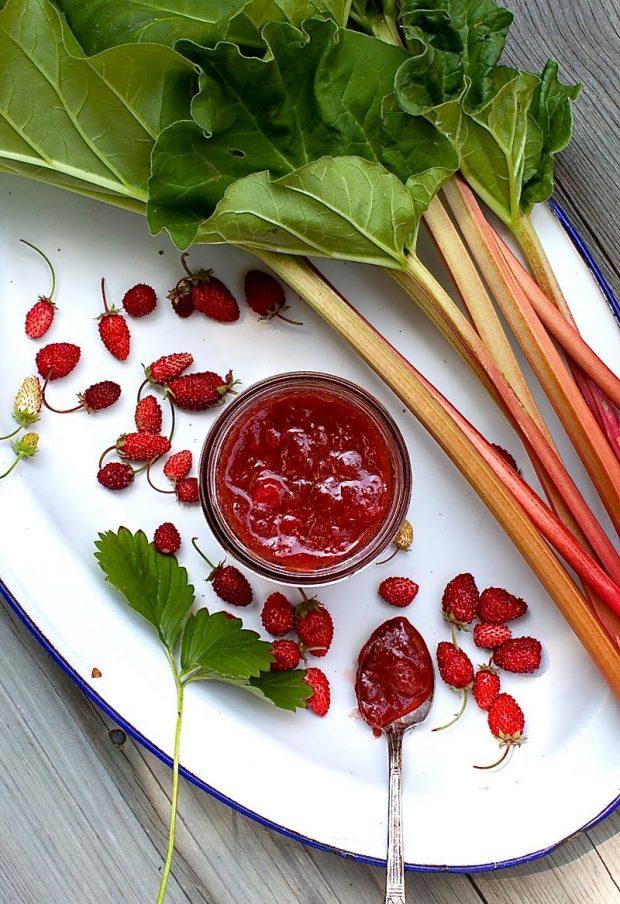 Honey-Sweetened Strawberry-Rhubarb Jam | Simple Bites