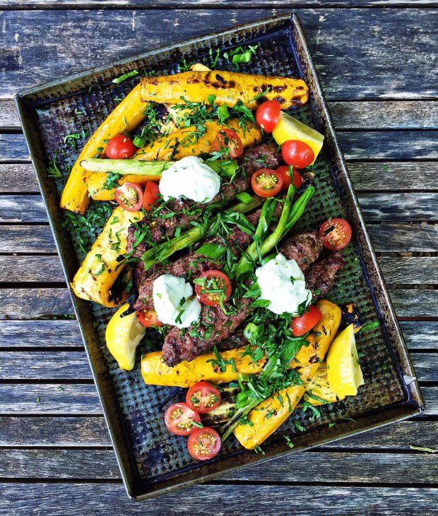 grilled kofte platter