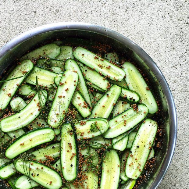 pickles in brine