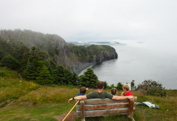 Whale watching lunch on the Skerwink trail || Family travel in Newfoundland, Canada | Simple Bites