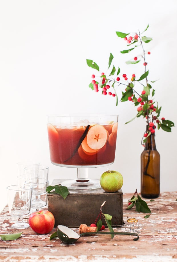 Sparkling Vanilla-Scented Apple Cider Punch | Simple Bites