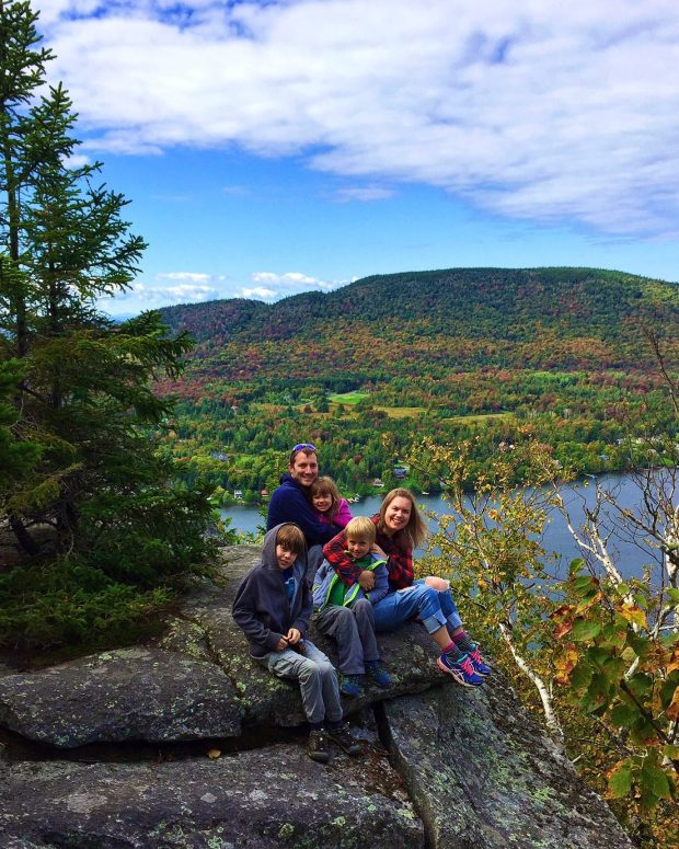 Bourque family in fall