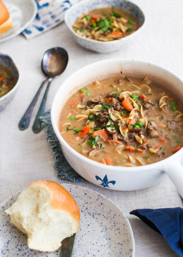 Creamy Beef Stroganoff Soup Simple Bites